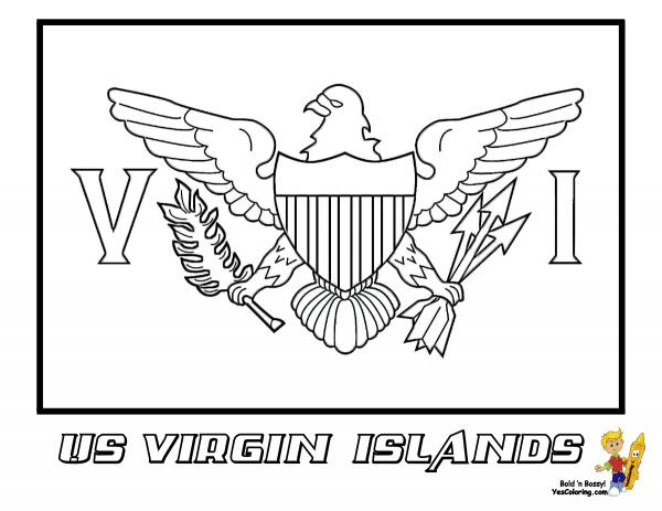 Virgin Islands coloring