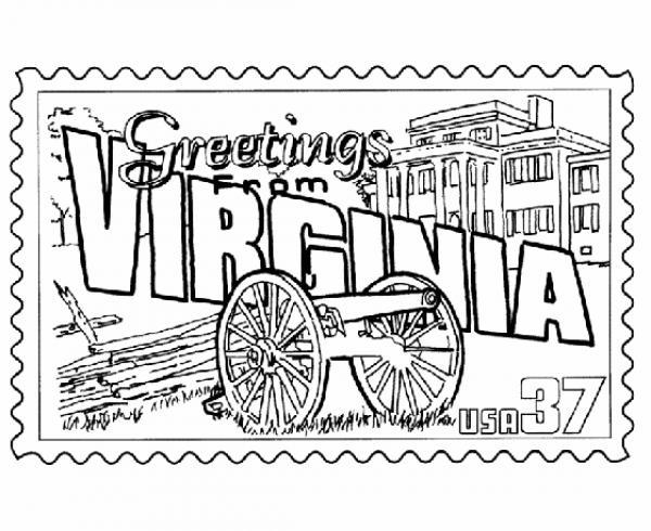 Virginia coloring