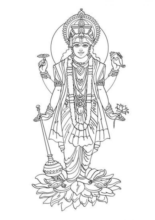preview Vishnu coloring