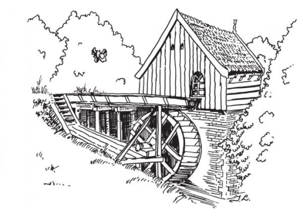 preview Watermill coloring