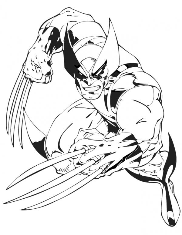 preview Wolverine coloring