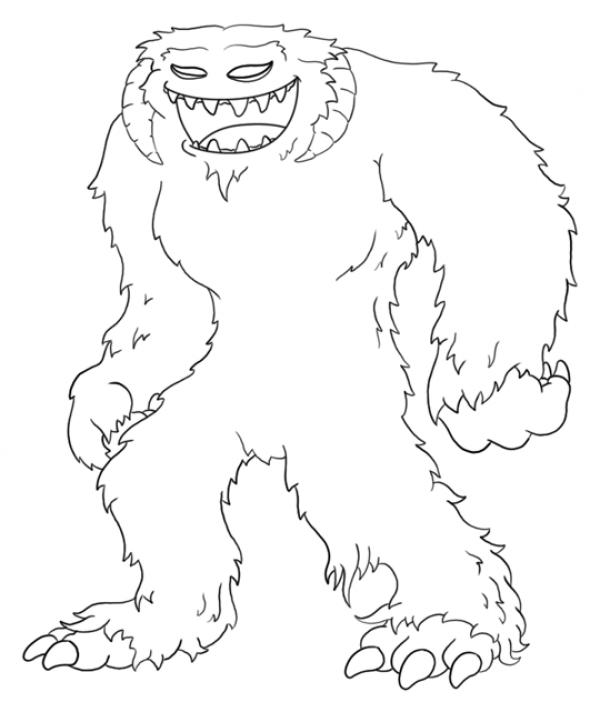 preview Yeti coloring