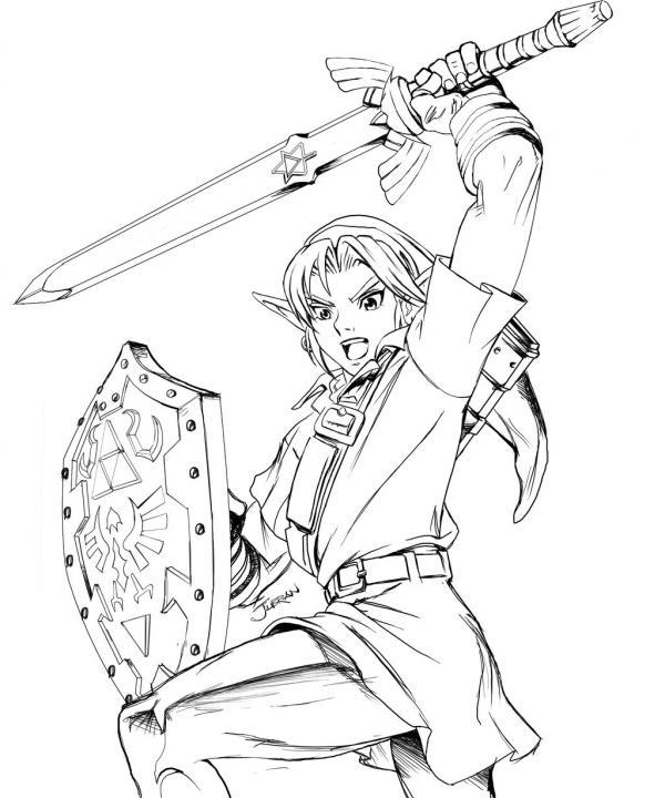 preview Zelda coloring