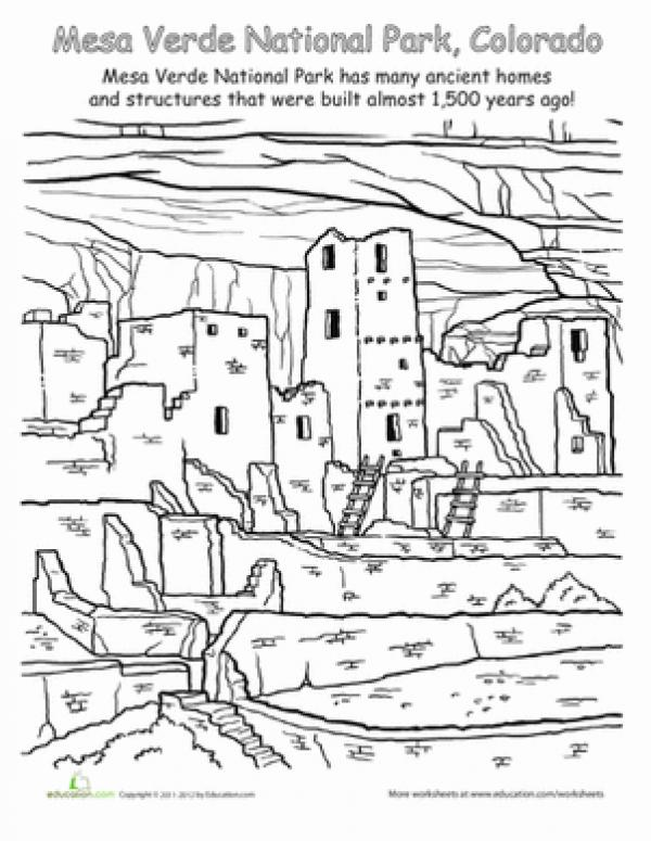 preview Zion National Park coloring